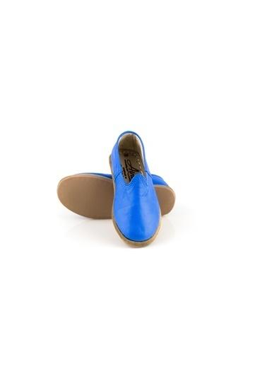 Aintap %100 Hakiki Deri Çocuk Ayakkabı Mavi Gaziantep Yemeni Mavi